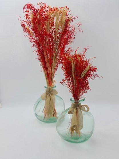 jarrones con flores