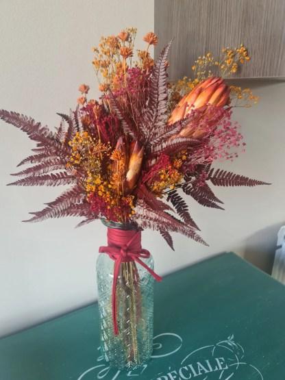 jarron flores preservadas