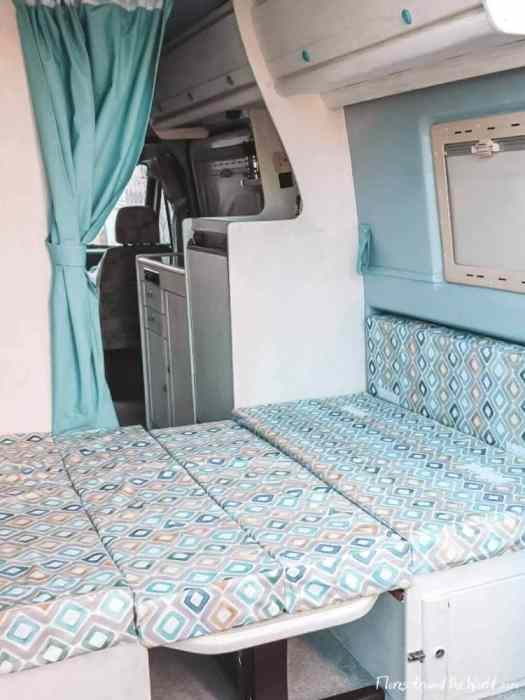 Campervan remodel: new bed
