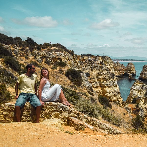 Angelina and Pedro, travel couple, authors of Flores Around the World travel blog