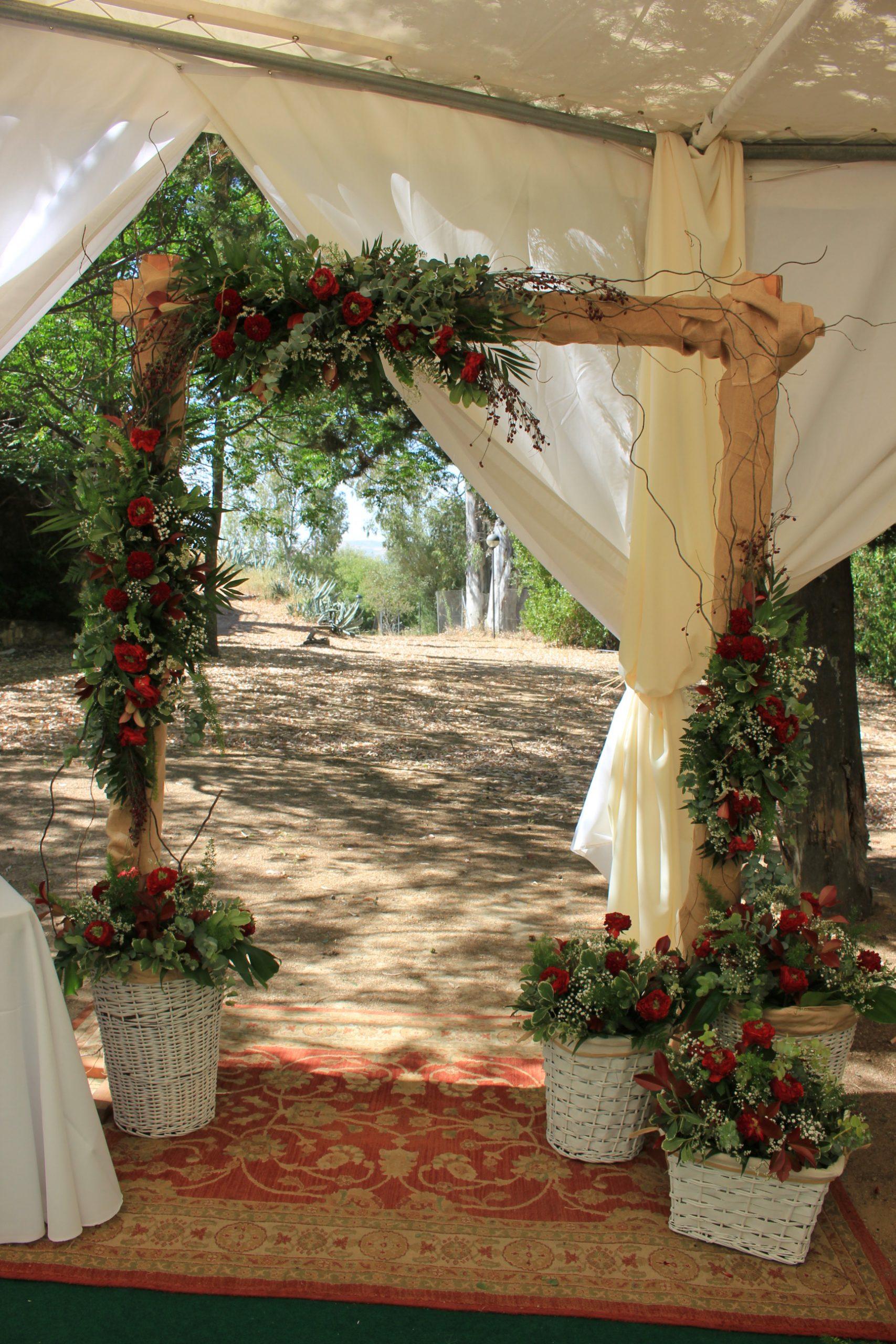 decoracion ceremonia civil flores del patio