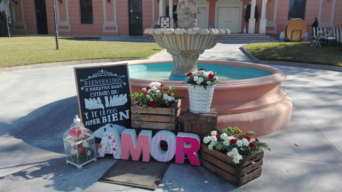 Detalles boda. Flores del Patio