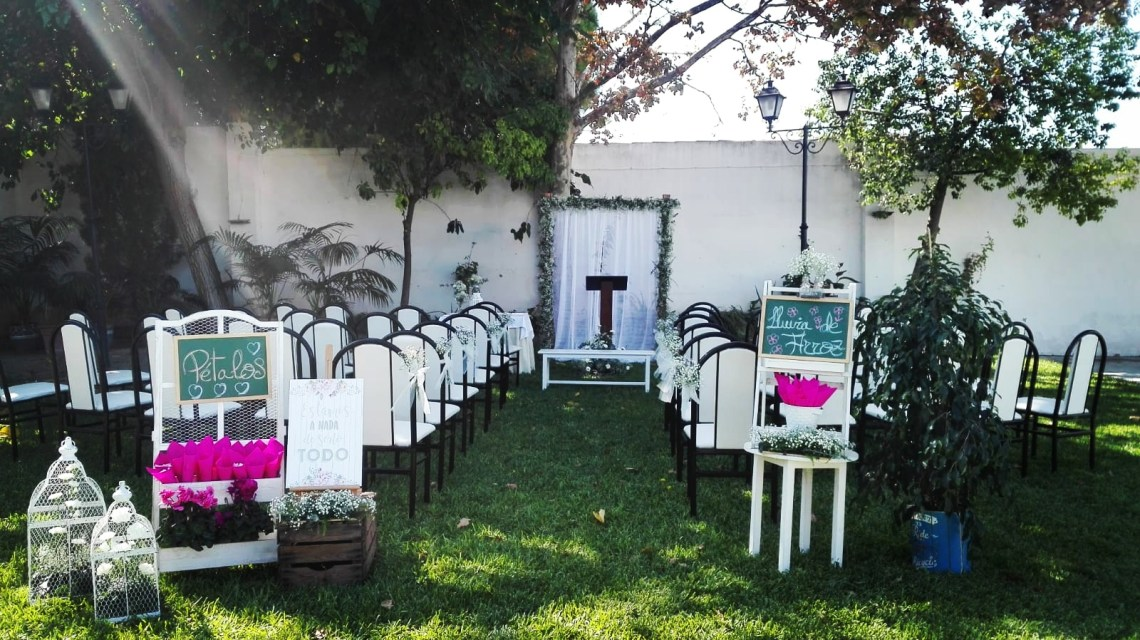 Boda civil. Flores del Patio