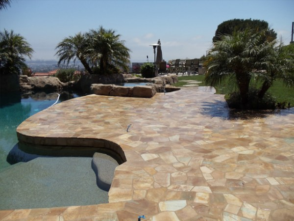 Pool Deck by Flores Masonry LA