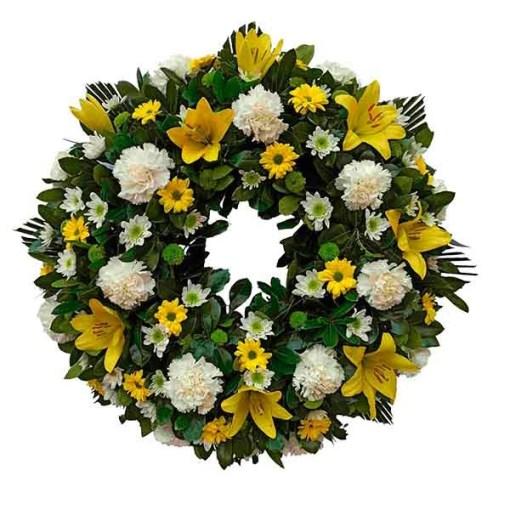 corona de flores velorio