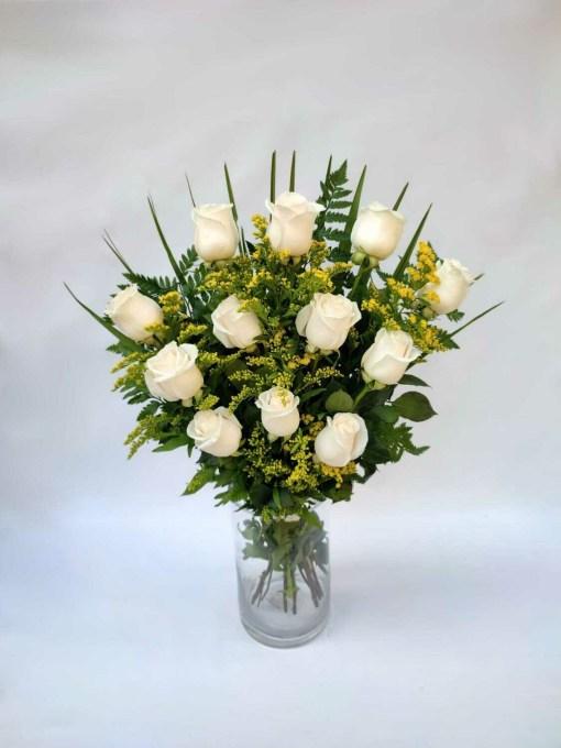 ramo fúnebre rosas blancas