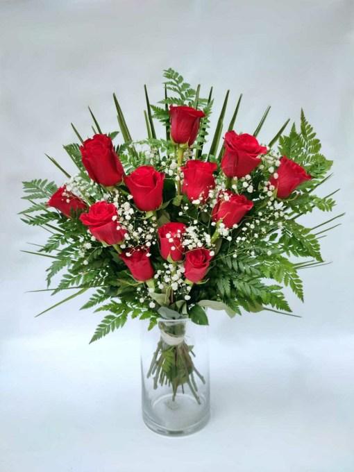 rosas rojas ramo