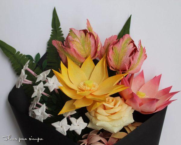 flores de papel fantasia