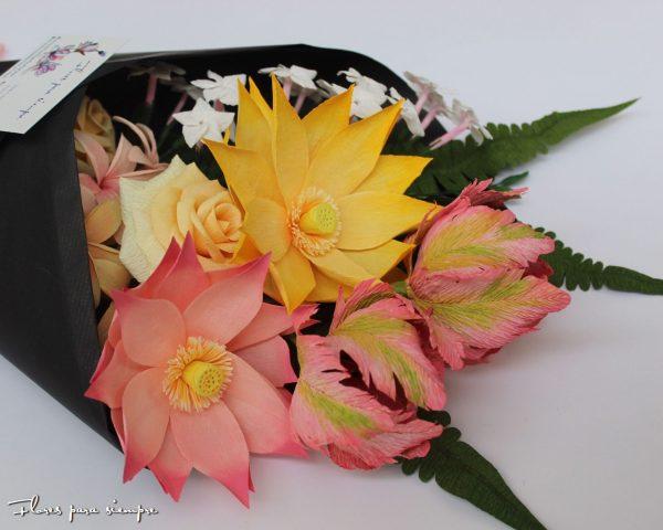 flores de loto amarilla y rosa