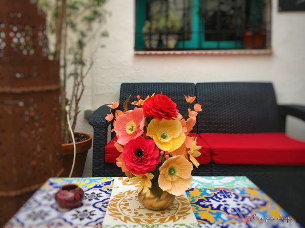 centro de mesa flores para siempre