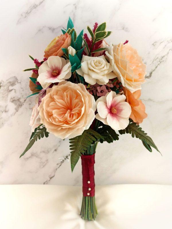 ramo de novia flores para siempre