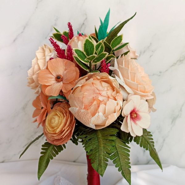 ramo de novia con peonías