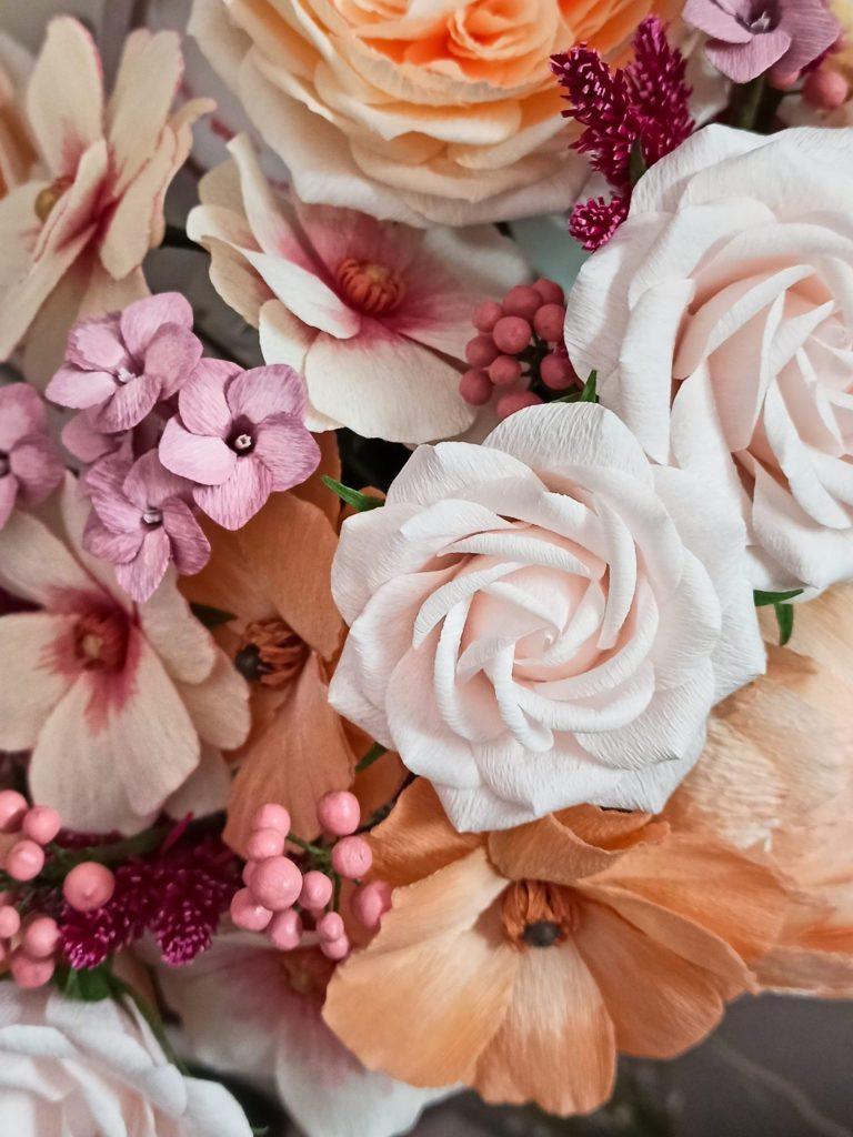 porqué elegir flores de papel, flores para siempre, flores de papel crepe, ramos de papel, ramos de novia de papel,
