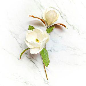 magnolias blancas, flores de papel crepé, magnolias de papel, ramos de papel crepé, flores para siempre