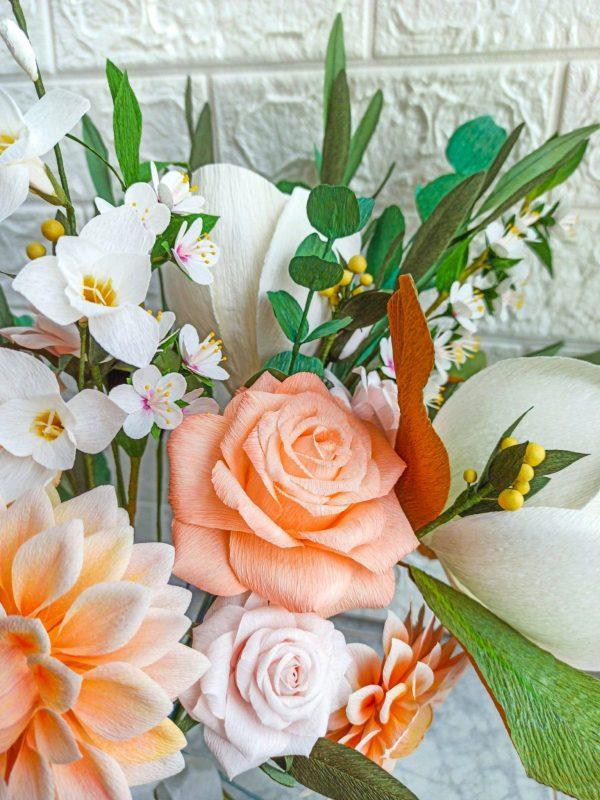 ramo de novia bohemio asimétrico