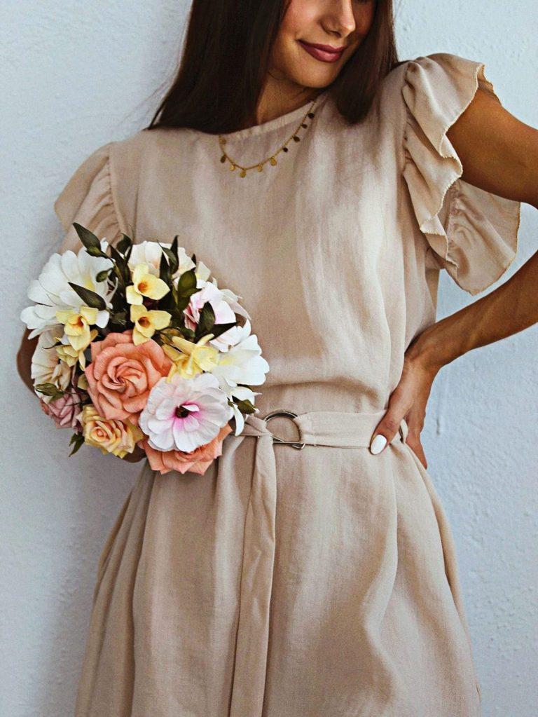 ramos de papel crepé personalizados, flores para siempre, flores de papel crepe