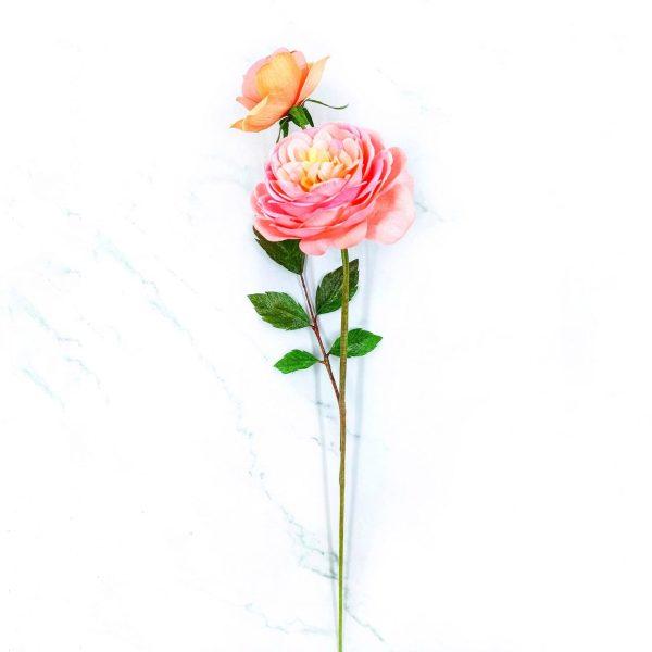 rosas realistas de papel crepé, flores para siempre, flores de papel crepe