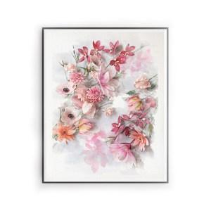 archivo digital descargable floral acuarela, flores para siempre, flores de papel crepe