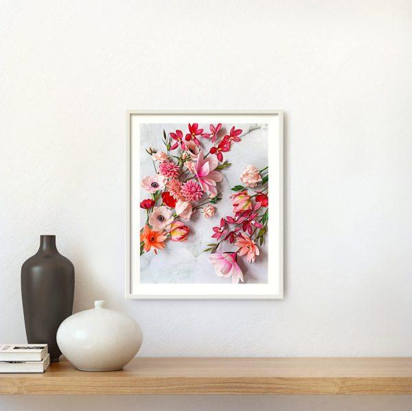 archivos digitales para descarga, flores para siempre, flores de papel crepe
