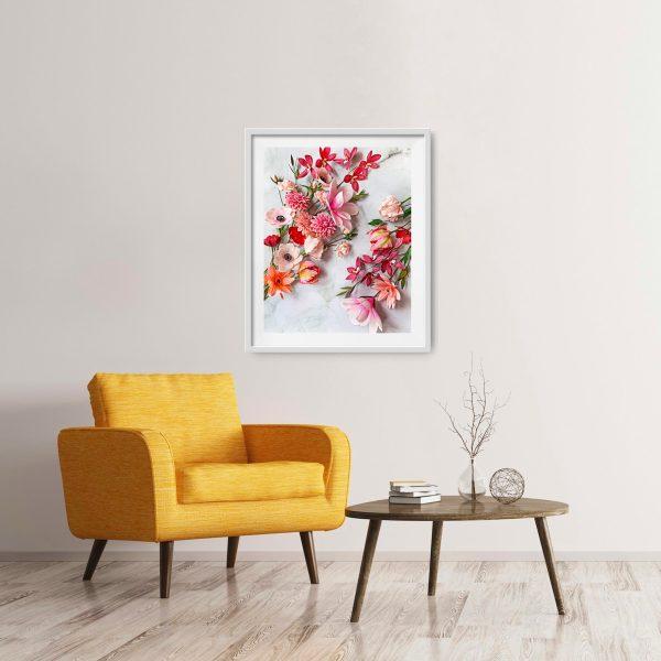 archivos digitales florales, flores para siempre, flores de papel crepe