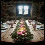 decoración floral banquete boda