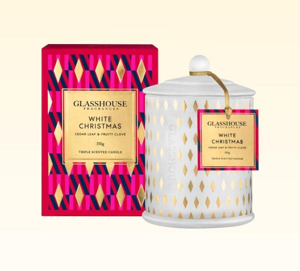 Candles White Christmas 350g – Glasshouse Candle