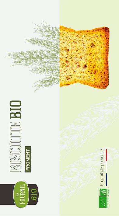 Packaging design des biscottes ROGER à Aix-en-Provence
