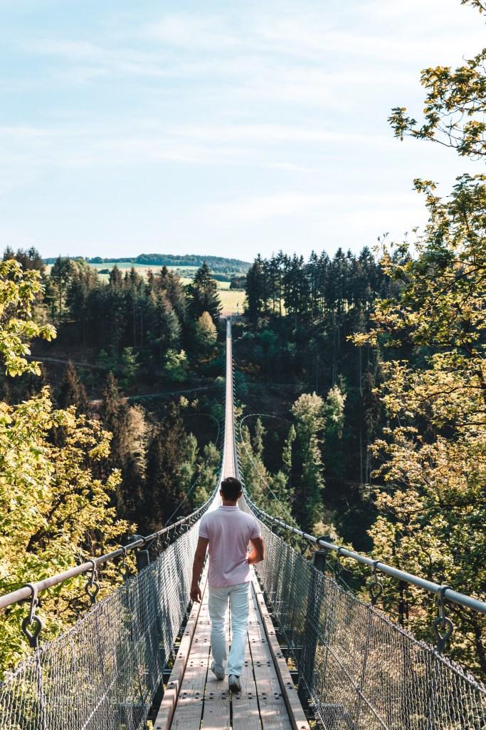 Besuch der Hängeseilbrücke Geierlay florianventures 5