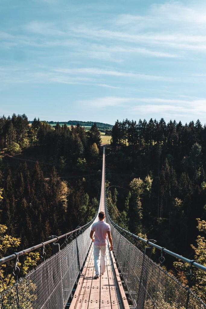 Besuch der Hängeseilbrücke Geierlay florianventures 1