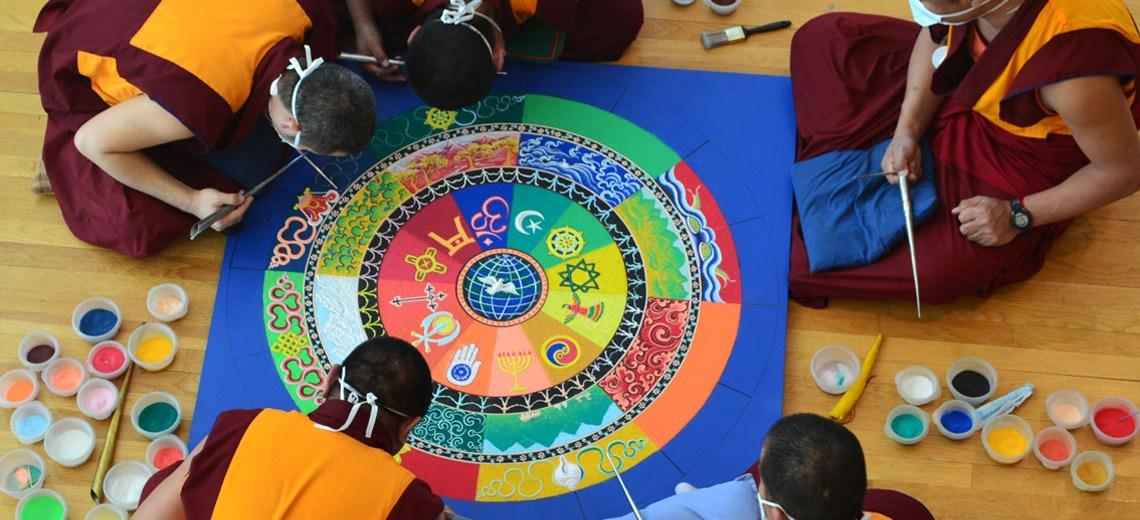 5 monks making mandala florida craftart