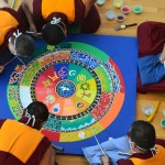 5 monks making mandala florida craftart
