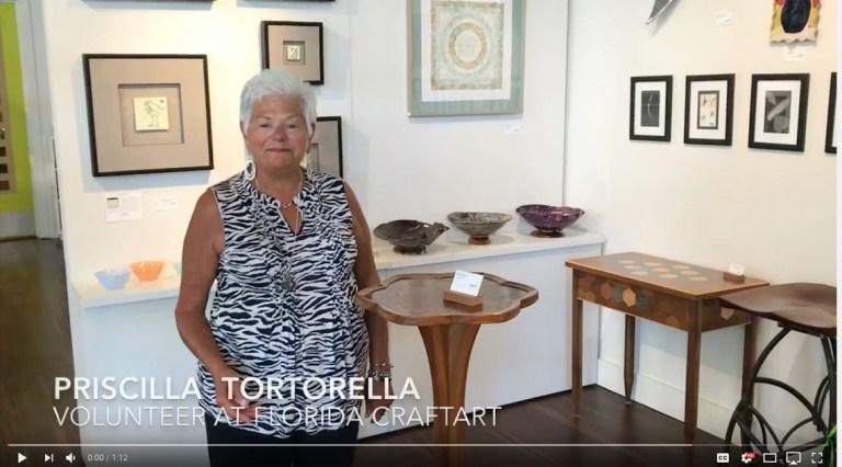 Florida CraftArt volunteer spotlight priscilla