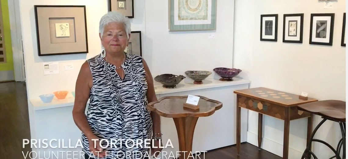 Florida CraftArt volunteer spotlight priscilla