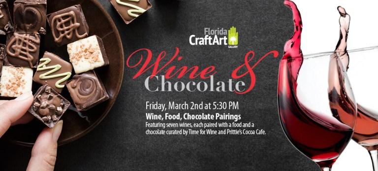 Lightheaded final art wine chocolate tasting event March