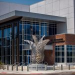 Mark Aeling- Gladiolus Sculpture at Police Station