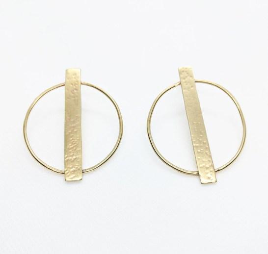Megan Hart Edie Earrings Brass