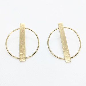 Megan Hart Edie Earrings Brass