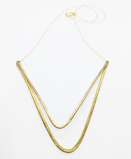 Megan Hart Tate Necklace Brass