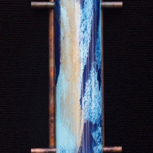 Terry Andrews Zen Light sculpture in blue