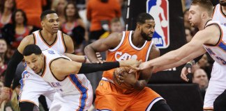 Cavs' Love out of Thunder Game with Back Spasms, Cavs Beat Thunder 107-91