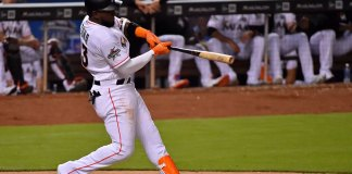 Ozuna's Two Homers Help Miami Beat Braves 8-4