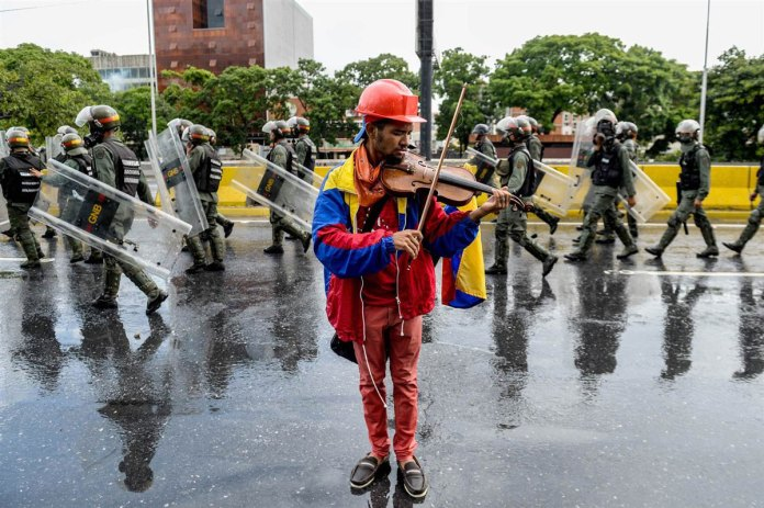 Venezuelan Violinist Wuilly Arteaga Injured During Protest in Venezuela