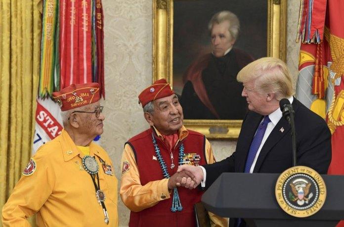 Trump Revives 'Pocohontas' Jab at Warren When Honoring Navajos