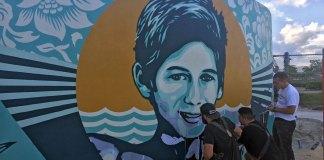 Shepard Fairey Paints Mural for Perry J. Cohen Foundation