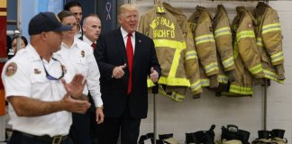 Trump Meets Firefighters in West Palm Beach