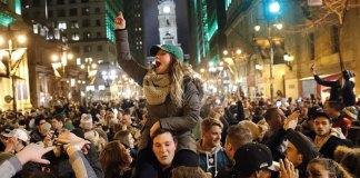 Philadelphians Take to the Streets to Celebrate Super Bowl