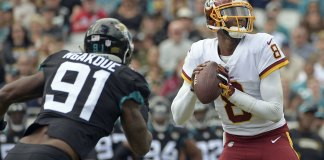 Johnson Leads Redskins to Late Scores, 16-13 Win at Jaguars