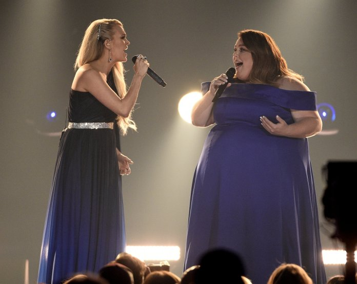 Carrie Underwood and Chrissy Metz.