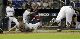Braves Go 10 Innings to Complete Sweep at Miami, 3-1