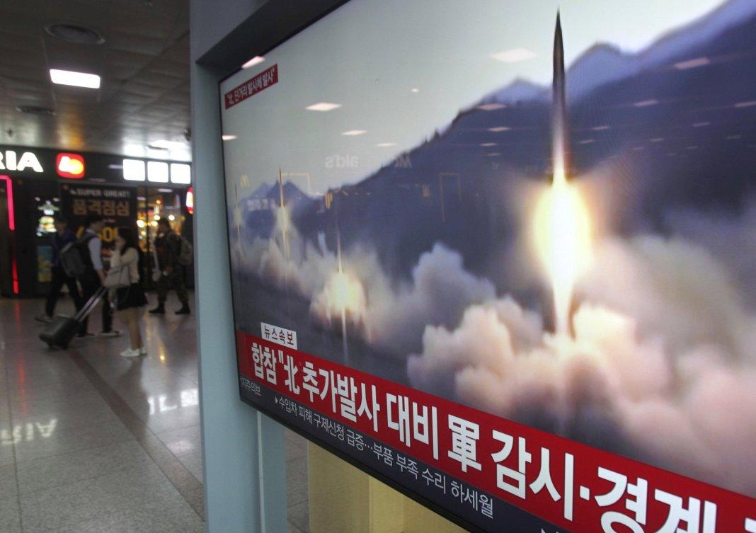 North Korea Fires Several Short-range Projectiles into Sea